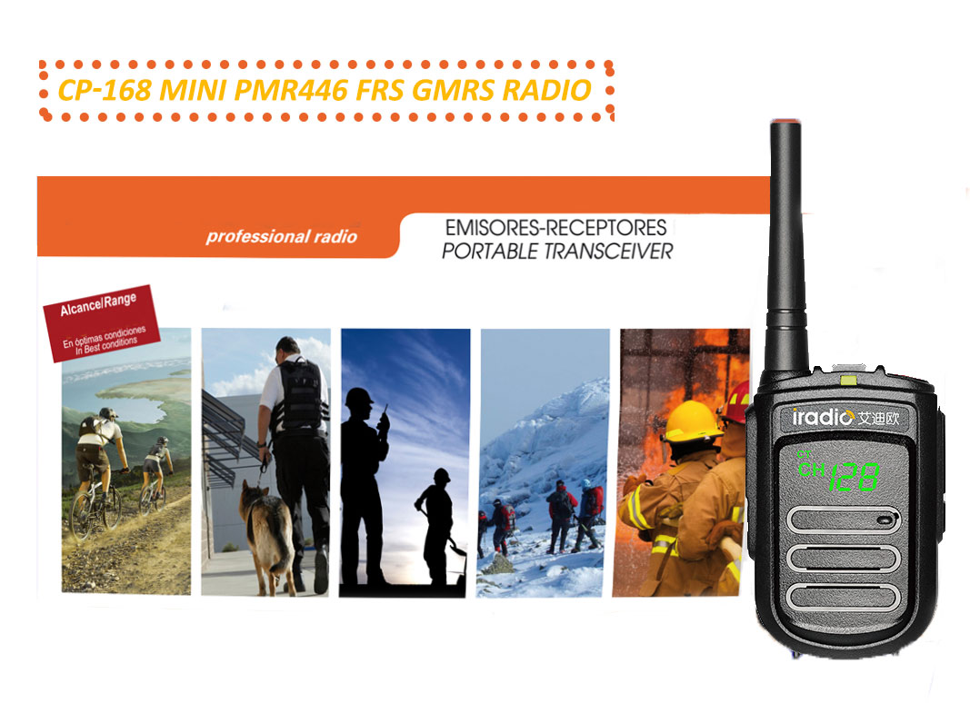 Mini PMR446 FRS GMRS UHF portable RADIO